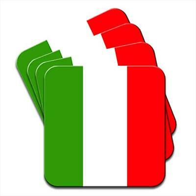 Italy Flag Set of 4 Coasters