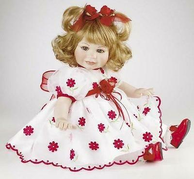 "Marie Osmond 2007 ""Organza"" 14-Inch Toddler Porcelain Doll"
