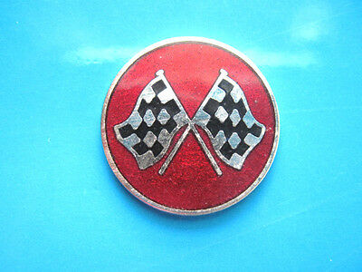 CORVETTE  checkered flag - Hat pin , lapel pin ,  tie tac  ( red ) GIFT BOXED