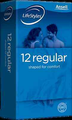 Ansell Lifestyles Regular Condoms (12) RETAIL PACK