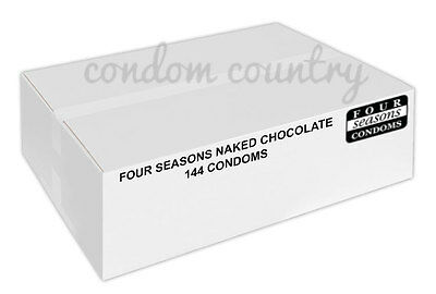 Four Seasons Naked Chocolate Condoms (144) BULK PACK