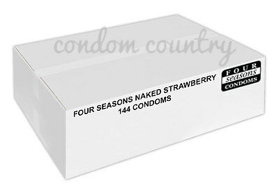 Four Seasons Naked Strawberry Condoms (144) BULK PACK