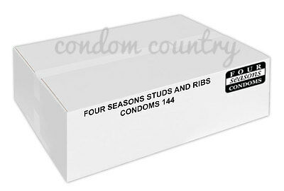 Four Seasons Stud and Ribbed Condoms (144) BULK PACK
