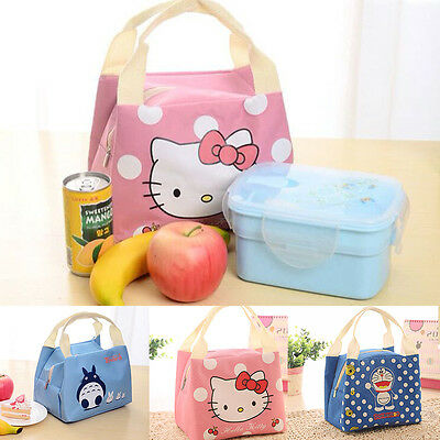 Portable Lunch Box Insulated Thermal Cooler Storage Picnic Bag Case Tote Cute US