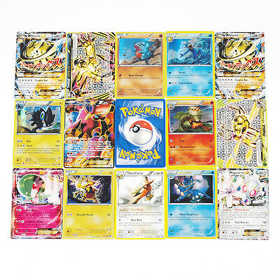 50PCS NEW Pokemon TCG Card lot Rare, Common, Unc, Holo & Guaranteed Ex Full