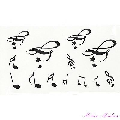Music Notes Removable Temporary Tattoo Body Art 106x61mm