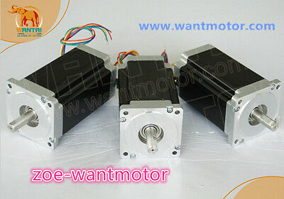 USA  FREE!Wantai 3PCS Nema34 Stepper Motor 85BYGH450D-008 1090oz 99mm 5.6A