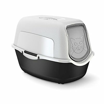 Rotho Cat Litter Box W/ Cover & Door Easy To Clean Litter Box For Domestic Cats