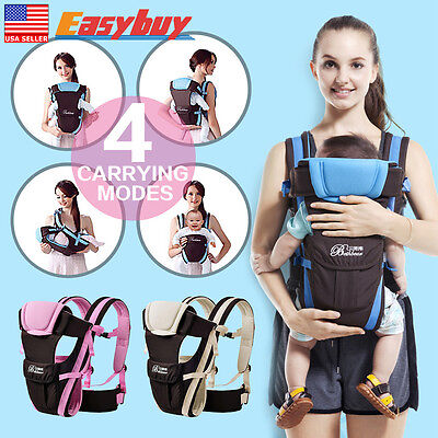 Adjustable Newborn Infant Baby Carrier Breathable Wrap Sling Backpack Rider New