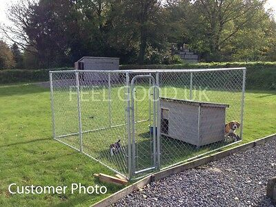 Chicken Run 3M X 3M Walk In Coop For Poultry Dog Rabbit Hen Cage Pen Metal Door