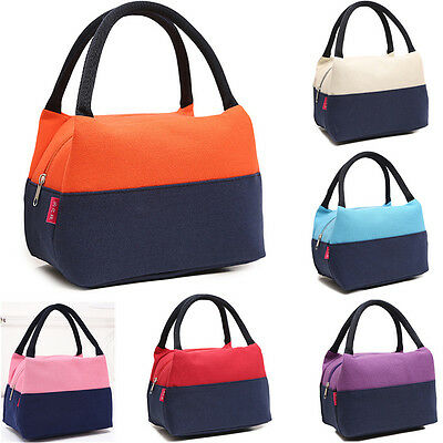 Waterproof Portable Canvas Tote Carrier Cooler Picnic Lunch Bag Box Travel