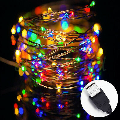 Waterproof LED String Strip Copper Wire Fairy Lights Christmas Party USB Powered