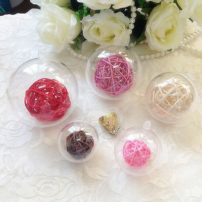 Christmas Tree Ball Fillable Candy Box Bauble Decoration Clear Plastic Ornament