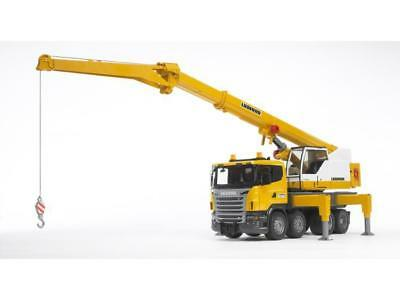 Bruder 03570 SCANIA R-Serie Liebherr Kran-LKW mit Light and Sound Modul 1:16