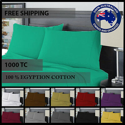 ORIGINAL 100% Egyptian Cotton 1000 thread count Queen King Size Sheet sets free