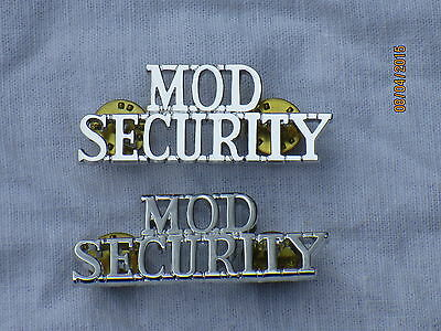 MOD SECURITY, Schultertitel, British Army,Police,Wachdienst, Wache