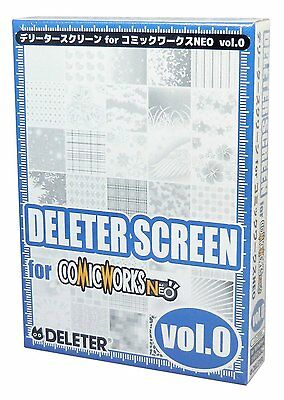 DELETER MANGA DRAWING SCREEN for COMIC WORKS NEO vol.0 from JAPAN