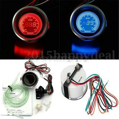 2'' 52MM 12V LED 0-35 PSI  Pression Jauge Boost Turbo Compteur Manomètre Auto
