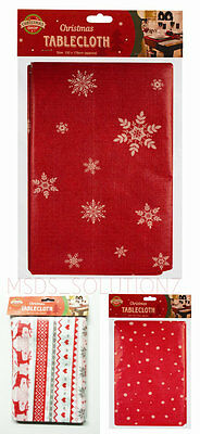 Christmas Table Cover 132X178Cm Large Peva Tablecloth Xmas Reindeer/snowflakes