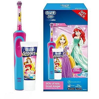 Oral-B Disney Princess Girl Electric Toothbrush Stages Power Kid Toothpaste Gift