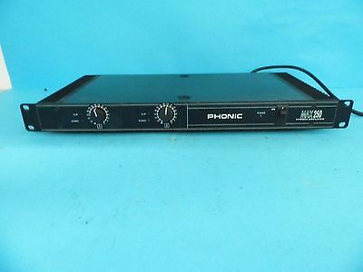 Phonic MAX 250 Rackmount Stereo Power Amplifier
