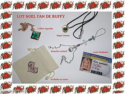Lot Noel de Buffy bracelet claddagh collier anyanka bague amara pochette cadeau