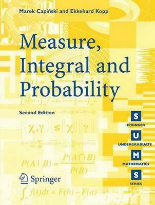 Measure, Integral and Probability by Marek Capinski (English) Paperback Book Fre