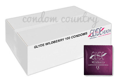 Glyde Wildberry Condoms (100) BULK PACK