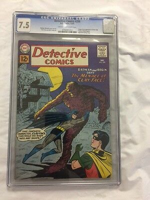 Detective Comics 298 Cgc 7.5 Hard To Find 1St App Silver Age Clayface