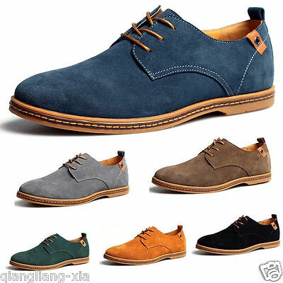 2017 Suede European style leather Shoes Men's oxfords Casual Multi Size Fashion