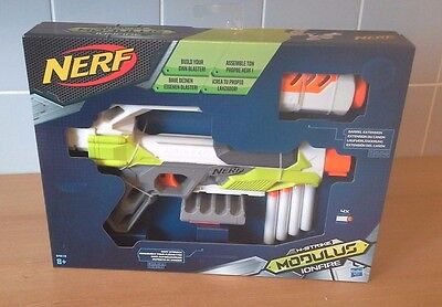 NERF N-Strike MODULUS IONFIRE Gun Blaster 2 Rail Attachments 4 Bullets Hasbro