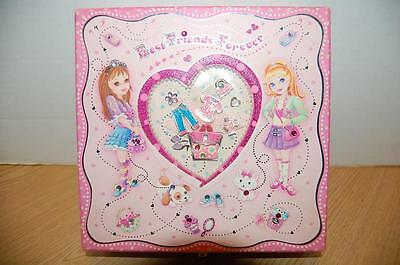 Best Friends Forever Jewel Box Filled With 50 Pieces Of Tween Costume Jewelry