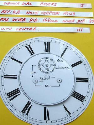 Buyers Ref:J,  Replacement laminate White  Vienna Regulator Clock Dial option 9