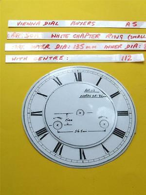 Buyers Ref:A5  Replacement laminate White  Small springer Clock Dial option 29 • EUR 8,74