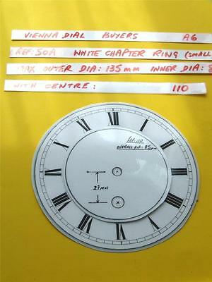 Buyers Ref:A6  Replacement laminate White  Small springer Clock Dial option 30