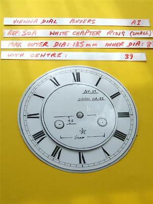 Buyers Ref:A1  Replacement laminate White  Small springer Clock Dial option 25