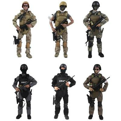 """1:6 Scale Flexible Military Army Police Soldier 12"""" Action Figures w/ ACCS Model"""