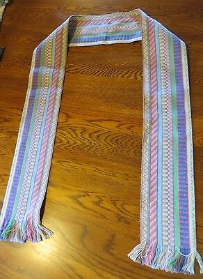 Guatemalan Hand Woven Scarf in Pastel Colors