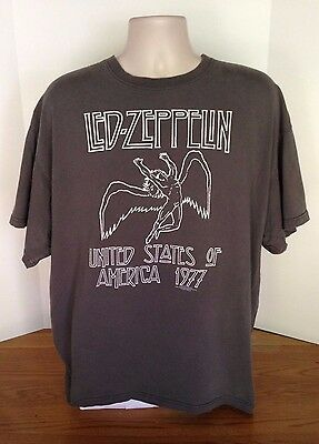 Led Zeppelin United States of America 1977 T Shirt Authentic Rock Mens Sz 2XL