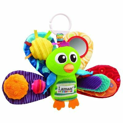 Lamaze Play & Grow Jacque the Peacock - clip on baby toy from birth