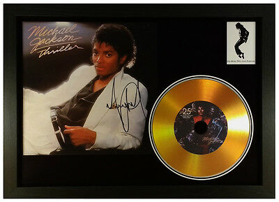 Michael Jackson 'Thriller' Gold Disc Display -'Signed'