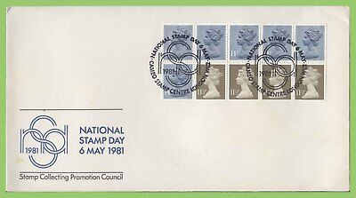 G.B. 1981 £1.30 left booklet pane on SCPC First Day Cover, NSD Cameo
