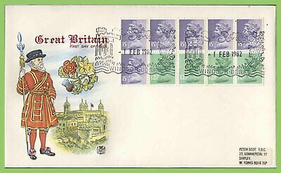 G.B. 1982 £1.43 booklet pane on Stuart First Day Cover, Windsor
