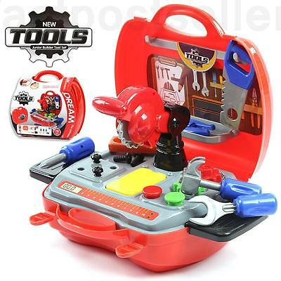 19pcs Builder Toolkit Box Kids Toddler Learning Source Pretend Play Role Toy Set
