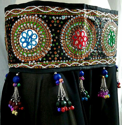 Authentic Vintage Kuchi Medallion Tribal Style Cowrie Hip Belt Belly Dancing ATS