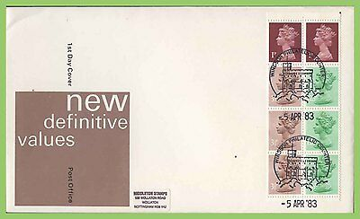 G.B. 1983 50p booklet pane on Royal Mail First Day Cover, Windsor