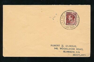 GB KING EDWARD 8th 1936 STAMP EXHIBITION CANCEL...LONDON to SCOTLAND