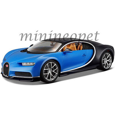 bburago 1 18 bugatti chiron diecast model roadster car vehicle new in box blue picclick. Black Bedroom Furniture Sets. Home Design Ideas