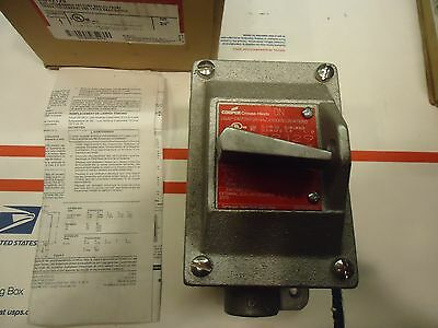 Crouse-Hinds EDS2129 Explosion Proof on/off Switch 1 pole 3/4 inch pass through