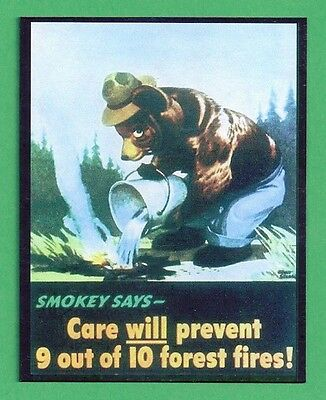 US Forest Service Smokey Bear Collectible Poster Magnet - 1944 Poster # 12